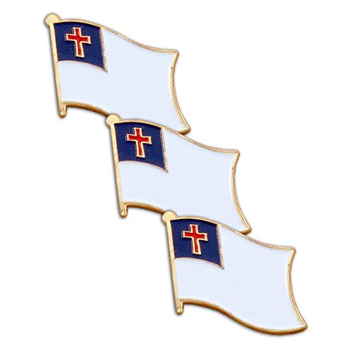 Online Stores Christian Flag Lapel Pin 3 Pack