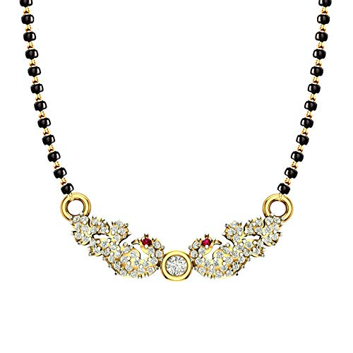 DISHIS 18KT Yellow Gold and Diamond Mangalsutra for Women