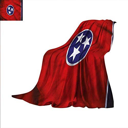 Unity Star - American Digital Printing Blanket Three Star Unity Tennessee Summer Quilt Comforter 62