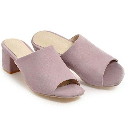 Donna Pantofole Scarpe Purple Toe TAOFFEN Peep 8zHnqdwxUU