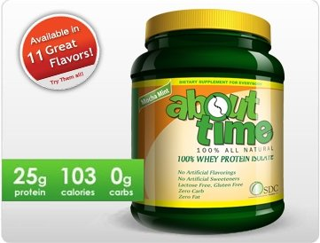 UPC 083765412936, SDC Nutrition - About Time All Natural Whey Isolate Cinnamon Bun 2 lbs