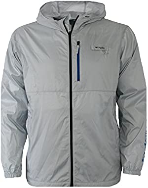 Men's PFG Morning View Omni Shade UPF 40 Hooded Full Zip Jacket Grey