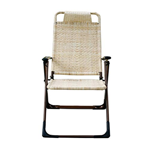 Recliners Folding Chair Vintage Rattan Chair Office Real Rattan Folding Lunch Break Breathable Outdoor Cool Chair Balcony Load Capacity 170kg