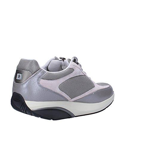 MBT Sneakers Hombre 42 2/3 EU Gris Textil Gamuza Cuero