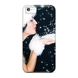 Cute Appearance Cover/tpu HjdddKE8512hNMTY Beautiful Christmas Sanata Babe Case For Iphone 5c