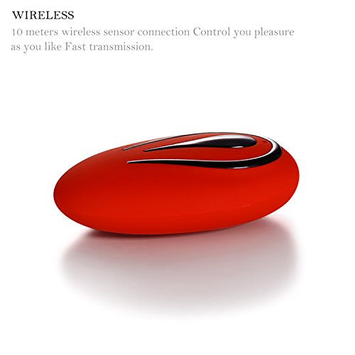 Bullet Vibrator, Louviva Remote Control Vibrator Wireless Bullet 12 Frequency Vibrating for Women or Couples Waterproof USB Rechargeable Photo #4