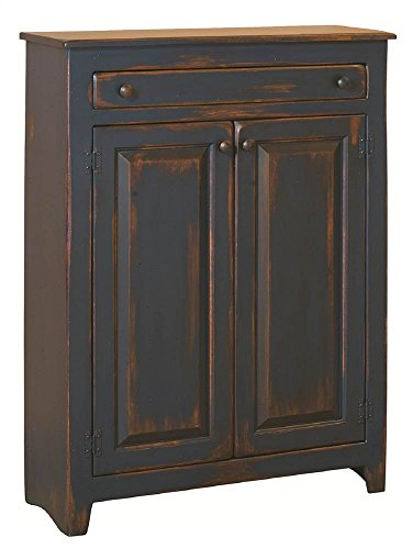 Anna Lg Pie Safe in Navy Distress Antique