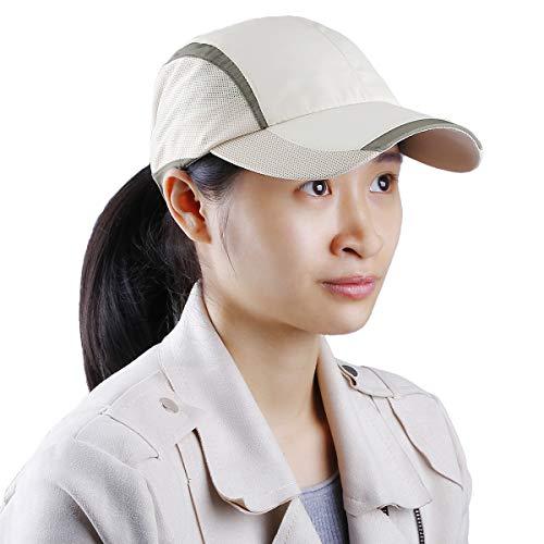 Samtree Unisex Sun Hat,Ultra Thin Quick Dry Lightweight Summer Sport Running Baseball Cap(013-Apricot)
