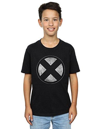 Distressed Emblem T-shirt - Marvel Boys X-Men Distressed Emblem T-Shirt 9-11 Years Black