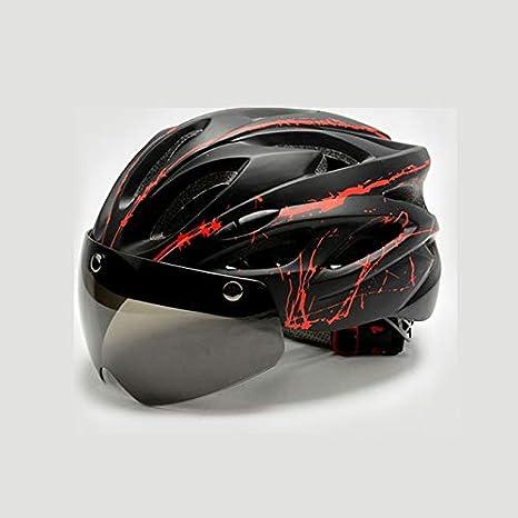 BPHMC Casco de Ciclismo a Prueba de Viento con Casco de MTB Goggle ...