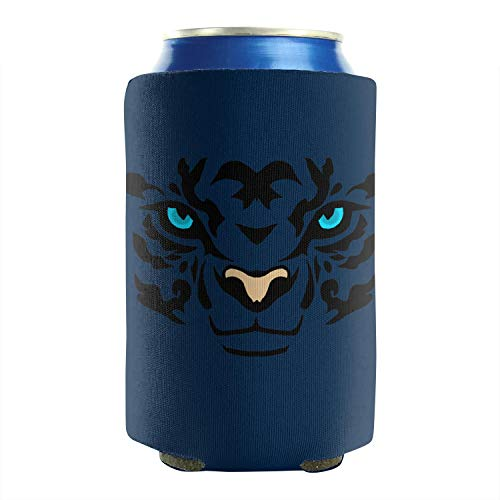 Animal Green Eyes Tiger Face 12-16 OZ Bottles Insulated Beverage Beer Can Sleeves Non-Slip Can Cooler Covers Cans Cooler Covers Collapsible Wedding Favor 2 Pack