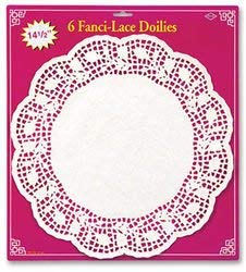 Lace Fanci - Fanci-Lace White Bond Doilies - Style #W14 (Sold by 1 pack of 12 items) PROD-ID : 1907306