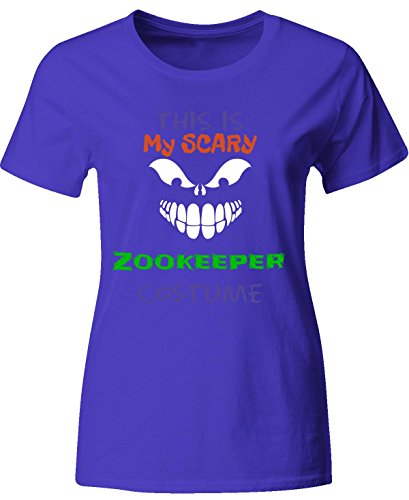 [This Is My Scary Zookeeper Halloween Costume - Ladies T-shirt Ladies L Royal] (Zookeeper Costumes For Womens)