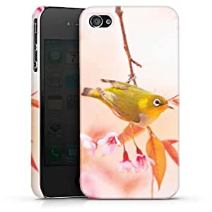 Carcasa Design Funda para Apple iPhone 4 / 4S PremiumCase white - Spring Bird