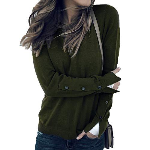 Colori Solido Moda Army Camicia Primavera per Cinque Forti Autunno per Shirt 1 Verde Lunga e Blouse Tops Camicetta Taglie Donne Colore Manica Casual H4qzw0R