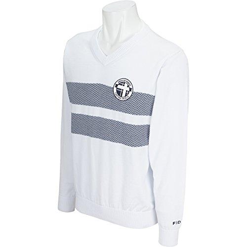 製造業トムオードリース非公式フィドラ FIDRA 中間着(セーター、トレーナー) Vネックセーター ホワイト L