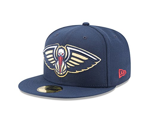 NBA New Orleans Pelicans Logo Grand Fitted 59Fifty Cap, 7.75, Blue