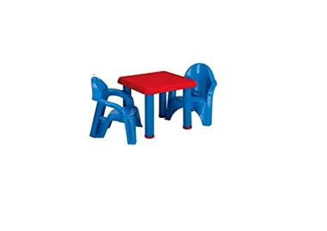 Amazon.com: American Plastic Toy Table and Chairs Set: Toys & Games