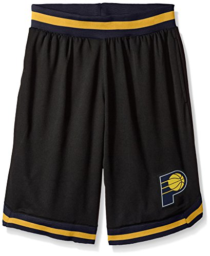 fan products of NBA Men's Indiana Pacers Mesh Basketball Shorts Woven Active Basic, Medium, Black