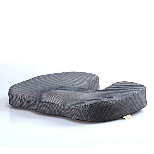 Wayward Memory Foam Cushion,Seat Cushions Orthopedic,Office Chair Cushion,U-Shaped Relieve Stress Caudal Care Back Pain Cushion Chair Pad-Gray 45x35x7cm(18x14x3inch)