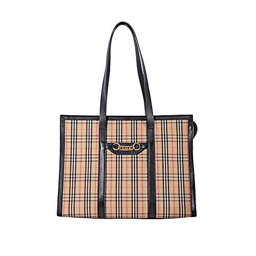 Burberry 1983 Check Link Tote- Black