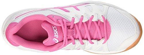 Asics Gel-Upcourt GS, Zapatillas de Voleibol Unisex Niños Varios colores (White / Azalea Pink / White)