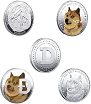 Dogecoin Coins Commemorative 2021 New Collectors Gold Plated Doge Coins, Gold Dogecoin Coins Commemorative tik