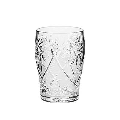 Set of 6 Neman Glassworks, 5-Oz Hand Made Vintage Russian Crystal Beverage Glasses, Mixed Drinkware Old-fashioned Glassware