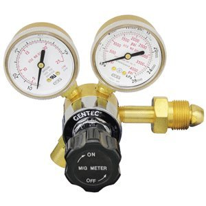 GENTEC 190AR-50 Light Duty ''MIG METER'' Flow Gauge Regulator by Gentec