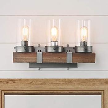 LOG BARN A03345 Farmhouse Bathroom Lighting, 3-Light ...