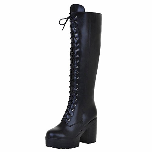 Black Boots Fashion Women Zipper Long KemeKiss RX41aySq1