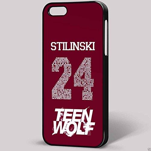 stilinski 24Teen Wolf iPhone Housse étui pour téléphone portable iPhone Transparent Fond Noir (se)