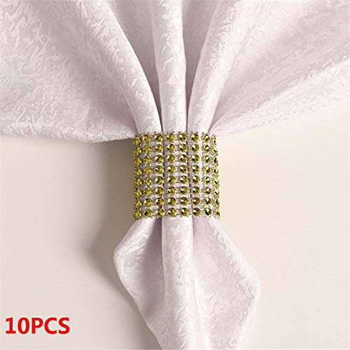 Miao Express 10PCS Wedding Table Decorations Nickel or Rose Gold Plated Napkin Rings,23