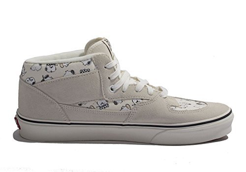 Vans Men's X Peanuts Half Cab (Peanuts) Snoopy Family/Marshmallow Skateboarding Shoes (US 10.5) (Cab Vans Half)