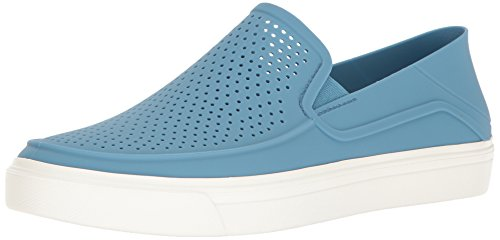Crocs Men's Citilane Roka Slip-On M Flat, Dusty Blue/White, 13 M - Roka Blue