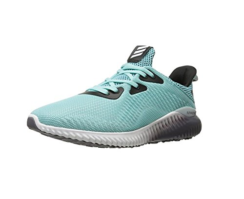 adidas Performance Women's Alphabounce 1W Running Shoe, Clear Aqua/White/Trace Grey, 7 M US