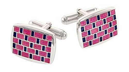 (Sterling Silver, Pink and Purple Enamel)