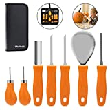 Pumpkin Carving Kit,Halloween Pumpkin Carving Tools,Premium 7 Piece Reusable Sturdy Stainless Steel Pumpkin Tools Set for Adult And Child