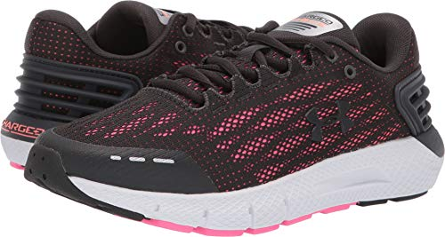 Under Armour Women's UA Charged Rogue Jet Gray/Peach Plasma/Jet Gray 8.5 Wide US