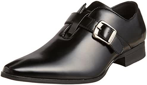 MM/ONE Men's Monkstrap Dress Shoes pointed toe belt Black Brown