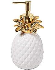 SKL Home by Saturday Knight Ltd. Gilded Pineapple Soap Dispenser, White/Gold