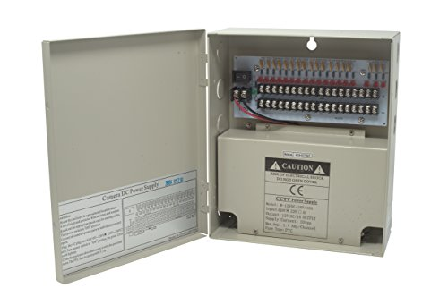 Kenuco CCTV Distributed Power Supply Box : 12V DC, 18 Ports 10 Amps