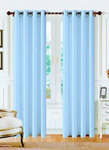 Light Blue Curtains Or Drapes - 3