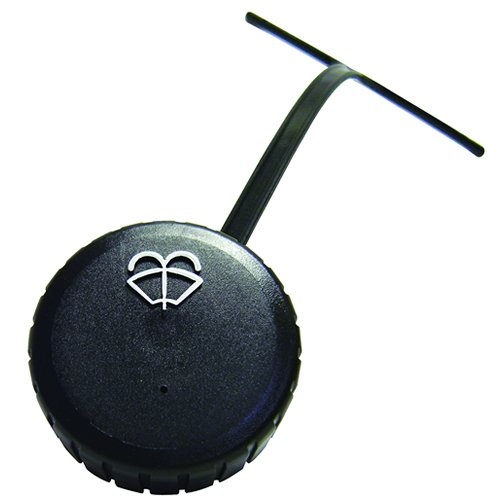 2-1/4'' Vented Polyethylene Washer Cap with Tether & Washer Symbol for Windshield Washer Systems