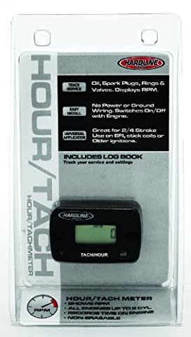 Hardline Products HR-8061-2 Hour Meter/Tachometer for 2-Cylinder Engines - Parts Unlimited Snowmobile