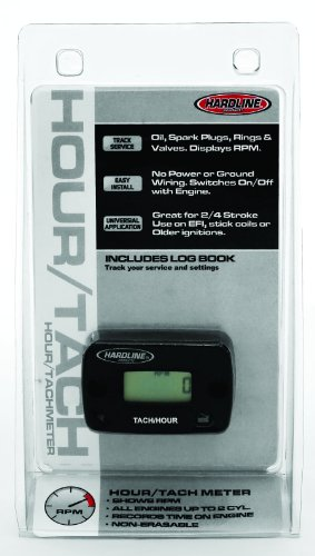 Hardline Products HR-8061-2 Hour Meter/Tachometer for up to 2-Cylinder Engines