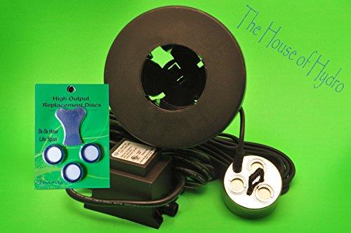 Commercial 3 Head Mist Maker Kit- (Three Disk Mist Maker, Transformer, Float, 3 Replacement Discs) (Kit Fogger Pond)