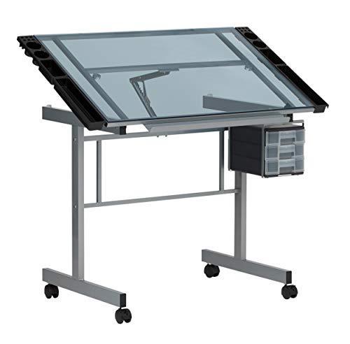 Studio Designs 10053 Vision Craft Station in Silver/Blue Glass [並行輸入品]   B07T9RLTGN