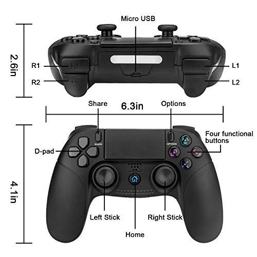 PS4 Controller,TechKen Wireless PS4 Gamepad für Sony Dualshock Controller PS4 Joystick Pro Grip Bluetooth Playstation 4 Vier Controller PS4 Zubehör Games Spiele für PlayStation 4 3 & PC Games 2