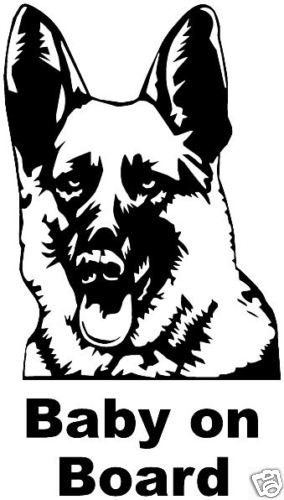 German shepherd dog fun car sticker graphic decal